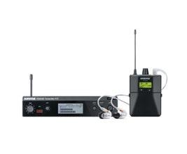 Shure P3TBRRA215CL-G20 Sistema de monitoramento In-Ear sem fio PSM300 com fone SE215-CL