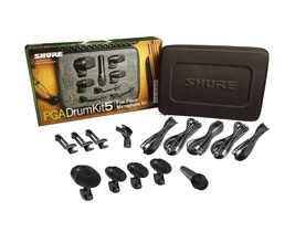 Shure PGADRUMKIT5 Kit PGA de Microfone para Bateria com 5 peças