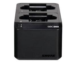 Shure SBC203-BR Carregador duplo de bateria SB903 para microfone SLXD