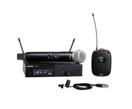 Shure SLXD124/85-G58 Microfone sem Fio Duplo com SM58 e bodypack com lapela WL185