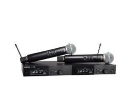 Shure SLXD24D/B58-G58 Microfone sem Fio duplo Dinâmico Supercardióide BETA58A para Vocais