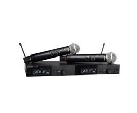 Shure SLXD24D/SM58-G58 Microfone sem Fio duplo Dinâmico Cardióide SM58 para Vocais