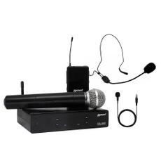 Lexsen XSL-503 Microfone sem Fio UHF com Bastão, bodypack, lapela e auricular