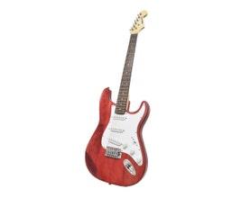 Benson PRISTINE-RD Guitarra Stratocaster Vermelha em Carvalho Sólido