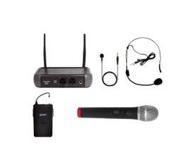 Lexsen LM-258U-KIT Microfone UHF 2 canais Frequência Fixa