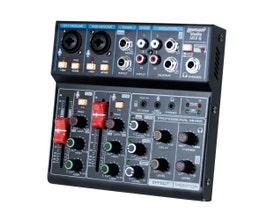 Lexsen Studio Mix 6 Mesa de Som 6 canais com Interface e Bluetooth